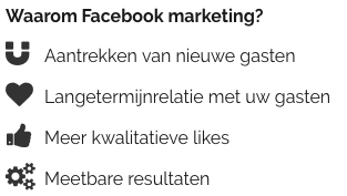 Facebook marketing horeca